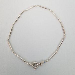 "Sterling Silver ball & rod link bracelet 7.25"""